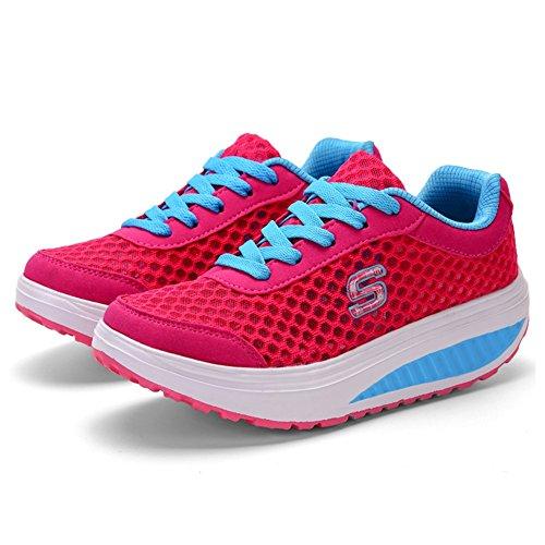 Scarpe Sneakers Nuove Traspiranti 2018 Spesso da Primavera Scarpa tulle A 40 Fondo da Color Estate Dimensione Scarpe Passeggio Alta Donna Scossa z88q0d