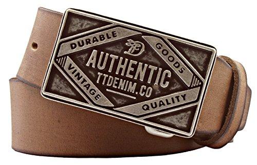 Tom Tailor Herren Leder Gürtel Rindleder Baileys kürzbar 40mm (90 cm)