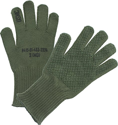 Olive Drab Manzella Official USMC TS-40 Military Gunner Shooting Gloves (Small)