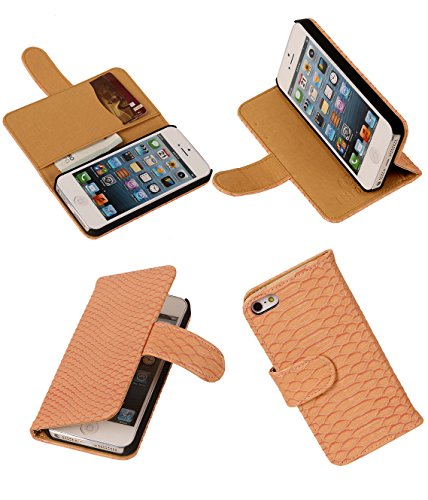 MobileFashion Serpent Book Cases pour Iphone 5/5s Portefeuille Case Cover Booktype avec Slots pour cartes
