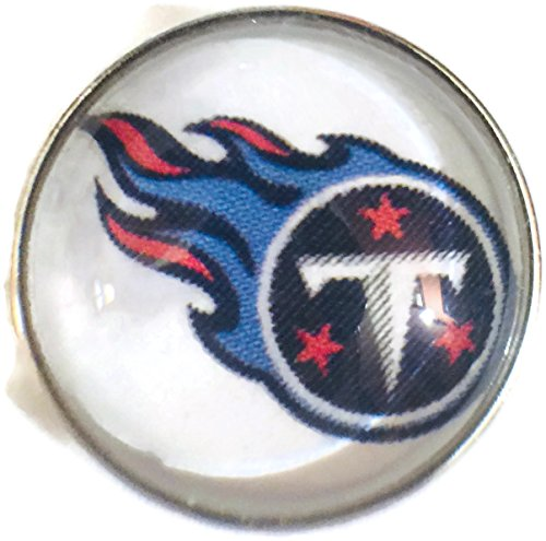 Nfl Logo Charm - Fashion Snap Jewelry NFL Logo Tennessee Titans Snap Charm