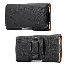eBuymore Premium Leather Horizontal Belt Case Executive Holster for Samsung Galaxy S7 Edge / S6 Edge+ / J7 / iPhone 7 Plus / LG V 20 V10 / G Stylo 2 / Motorola Moto G4 / Huawei P9 Plus
