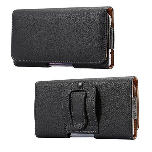 - PU Leather Holster Case Carrying Pouch w Belt Clip Belt Loop for Galaxy Note 9 Note 8 J8 (2018) A6 Plus, Moto G6 Plus E5 Plus, Blu Vivo X, LG Stylo 4, Honor 8X, HTC U Ultra, Xperia XA2 Ultra (Black)