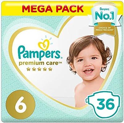 Pampers Premium Care - Pañales Giga Pack extra grandes tamaño 6-72 unidades: Amazon.es: Bebé