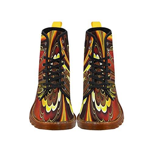 Leinterest Marbré Fractal Martin Bottes Mode Chaussures Pour Femmes