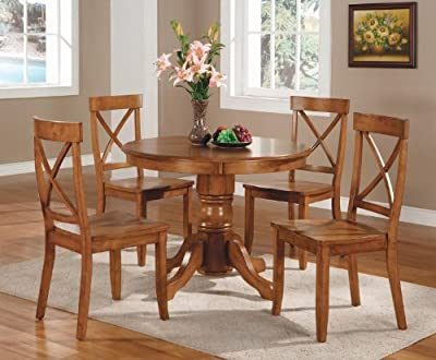 Home Styles 5 - Pc. Round Pedestal Table and Chairs
