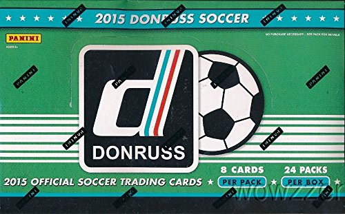2015 Donruss Soccer HUGE 24 Pack Factory Sealed HOBBY Box with 192 Cards & AUTOGRAPH CARD! Look for Cards & Autographs of Superstars including Lionel Messi, Ronaldo,Neymar Jr,Iker Casillas & Many More - Soccer Hobby Box