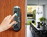 Assa Abloy Digi Electronic Digital Security Fingerprint and Keypad Keyless Door Lock 6600-98 (Left Handle, Satin Nickel)