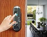 Digi Electronic Digital Security Fingerprint and Keypad Keyless Door Lock 6600-98 (Left Handle, Satin Nickel)