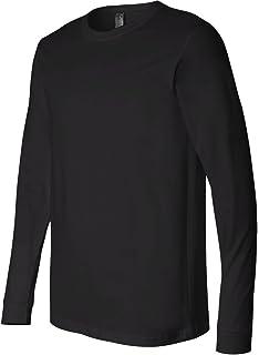 Canvas Mens Jersey Long-Sleeve T-Shirt L BLACK Men Bella Jerseys