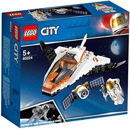 LEGO®-City La mission d'entretien du satellite Enfant 5 Ans et Plus, Jouet de Construction, 84 Pièces 60224