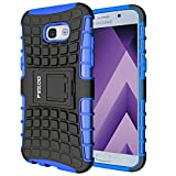 Galaxy A5 (2017) Case,Pegoo Galaxy A5 (2017) Cover Shockprooof Impact Resistant Hybrid Heavy Duty Dual Layer Armor Hard Plastic and Soft TPU With a Kickstand bumper Protective Cover Case for (2017) Samsung Galaxy A5 (Blue)