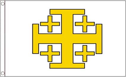 Amazon.com : Jerusalem Cross Knights Templar 5'x3' (150cm x 90cm) Polyester  Flag : Garden & Outdoor