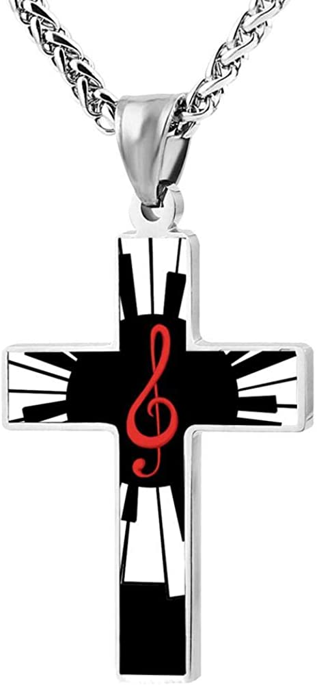 M100/% I Love Italy Italian Flag Metal Religious Zinc Alloy Stainless Silver Steel Cross Necklace Holder