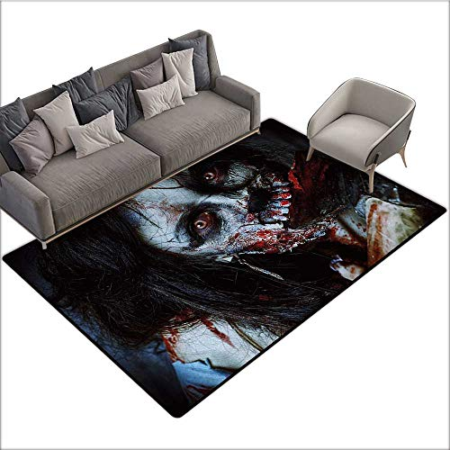 Zombie Household Decorative Floor mat Scary Dead Woman with a Bloody Axe Evil Fantasy Gothic Mystery Halloween Picture 78