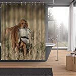 ALUONI an English Cocker Spaniel with a Sharptailed Grouse Shower Curtains Set with Hooks,054446 for Shower,65''W x 71''H 6