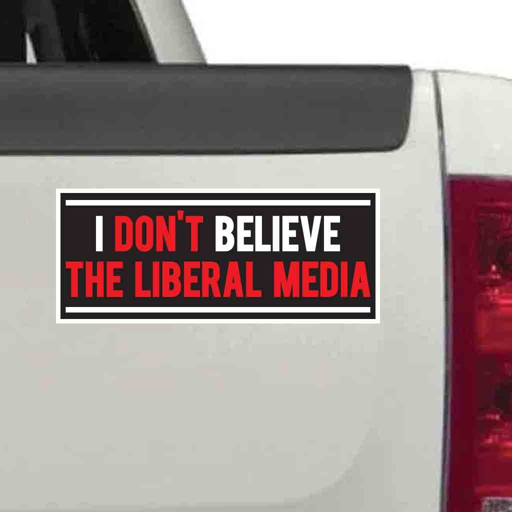 Amazon com victorystore stickers i dont believe the liberal media vinyl bumper stickers set of 10 size 3 75 x 11 home kitchen