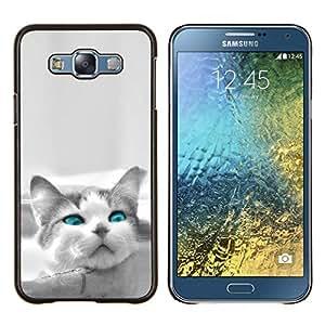 """Be-Star Único Patrón Plástico Duro Fundas Cover Cubre Hard Case Cover Para Samsung Galaxy E7 / SM-E700 ( El azul del ojo de gato"""" )"""