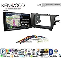 Volunteer Audio Kenwood DNX874S Double Din Radio Install Kit with GPS Navigation Apple CarPlay Android Auto Fits 2010-2015 Non Amplified Toyota Prius