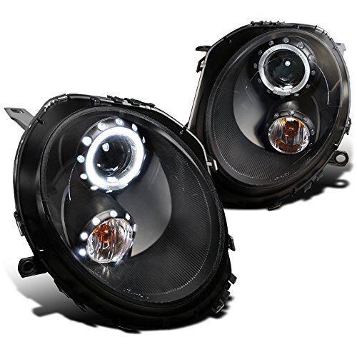 Spec-D Tuning 2LHP-MINI06JM-TM Mini Cooper S/Base Black Halo Projector Headlights