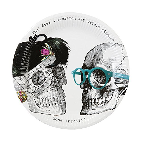 Halloween Plates Halloween Decorations Party Supplies Paper Plates Halloween Skeleton 9