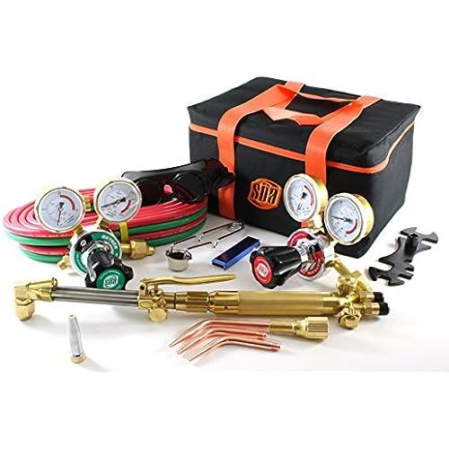 Buy SÜA 25 Series Gas Welding & Cutting Kit Oxygen Torch Acetylene Welder Outfit