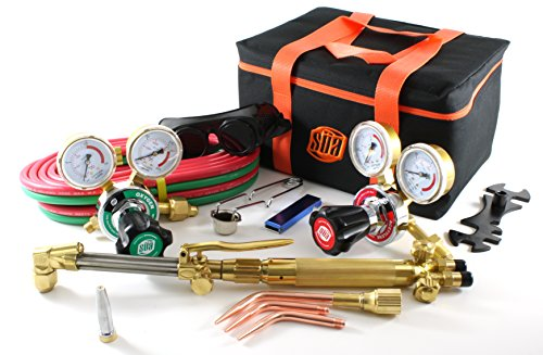 SÜA 25 Series Gas Welding & Cutting Kit Oxygen Torch Acetylene Welder Outfit