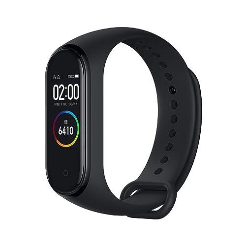 Xiaomi Band 4 Pulsera de Fitness Inteligente Monitor de Ritmo cardíaco 135 mAh Pantalla Color Bluetooth 5 0 más Reciente 2019 Negro