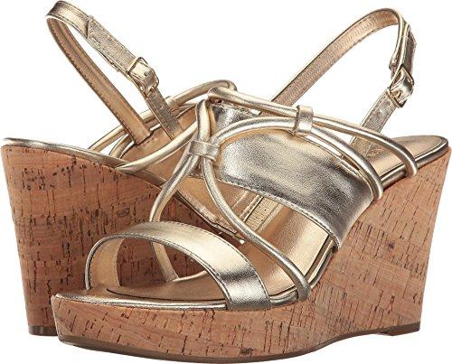 Nine West Women's Edley Light Gold Synthetic Shoe