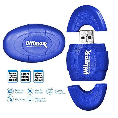 Ultimaxx High Speed High Capacity SD Micro SD Reader for Microsoft XP and Windows 7, 8 and 10; Mac (Windows Xp Tablet Review)