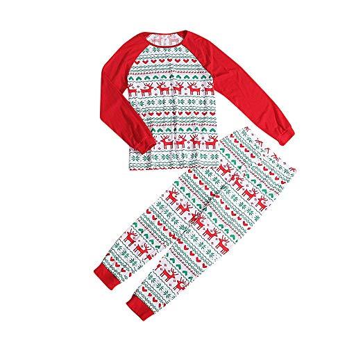 Di Pigiami Pantaloni Coordinati Pigiama Per Natale Donna Da Set Famiglia Babbo Bianca Notte Matching Qinmm HC8qxwCR