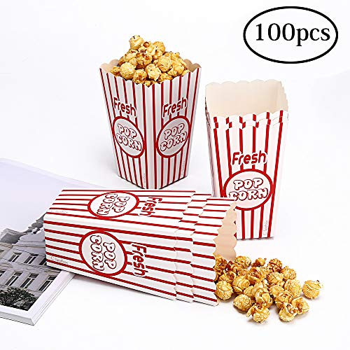 Movie Party Popcorn Boxes Food Grade - Striped