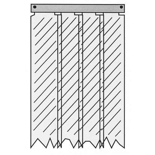 """Kason 01SA8085084 Strip Curtain 50""""X84"""" Kason Easimount 401Sa8085084 8-Strips, 8"""" Wide 321862"""