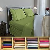 Clara Clark 1800 series Silky Soft 4 piece Bed Sheet Set Full Size, Calla Green