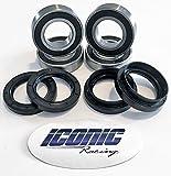 #3: 04-13 Yamaha Rhino 450 / 660 / 700 BOTH Front Wheel Bearings and Seals Kits