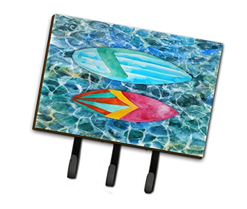 Caroline's Treasures Surf Boards on the Water Wall Hook, Triple, Multicolor