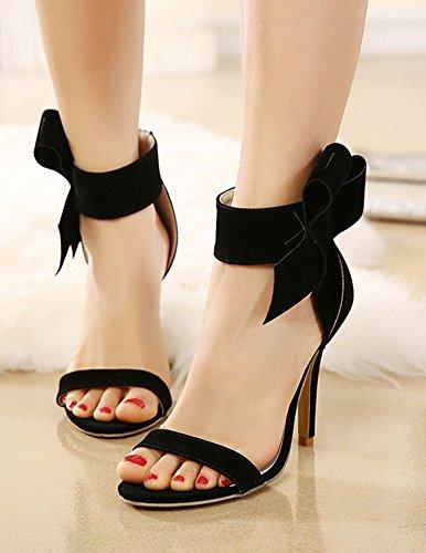 Sandales Bout Noir Aisun Femme N ud Chic Papillon Ouvert 7qq068Xw