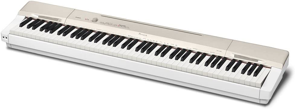 B0100RBS44 Casio Privia PX-160GD 88-Key Full Size Digital Piano with Power Supply, Gold 51kIT%2B8FE0L