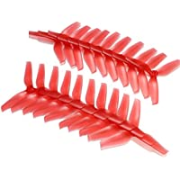 BangBang 10 Pairs Racerstar 5042 5x4.2x3 3 Blade Propeller 5.0mm Mounting Hole For FPV Racing Frame (10 Pairs: Color Red)