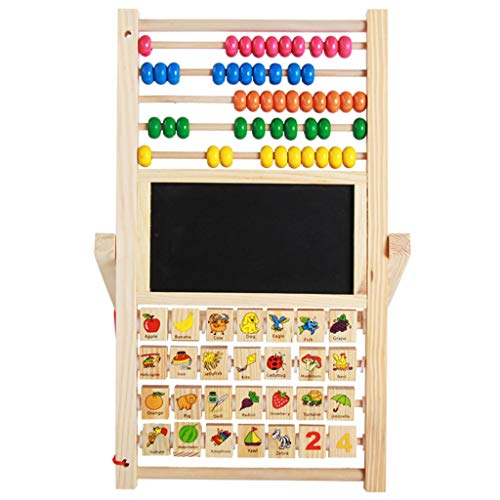 Dub Frame Dub Child (Wooden Educational Kids Blackboard Game Letters Numbers Learning Magnetic Board Kids Creative 3 in 1 Toy (3 in 1 Toy))