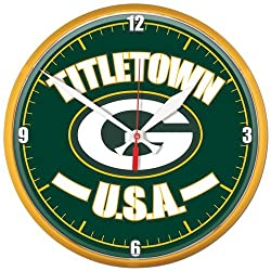 NFL 2724011 Green Bay Packers Round Wall Clock, 12.75