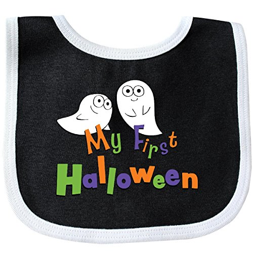 Inktastic My First Halloween Baby Bib Black/White]()
