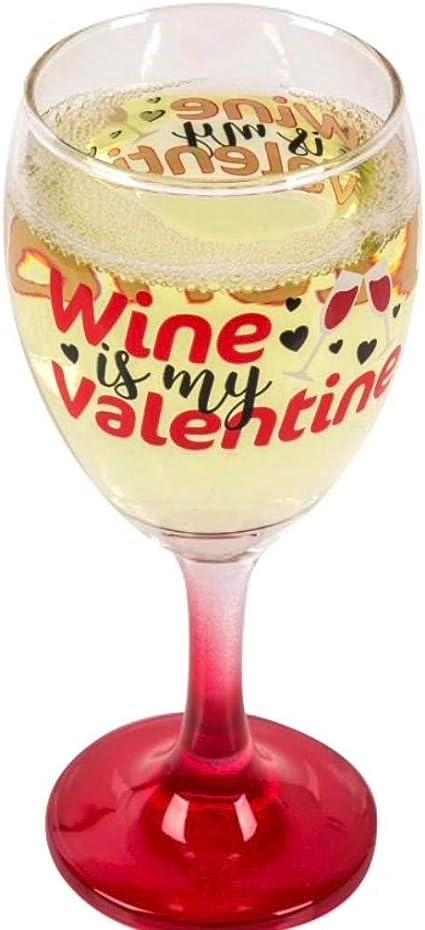 DIY Glasses 6 x Wine Is My Valentine Wine Glass Vinyl Stickers V232