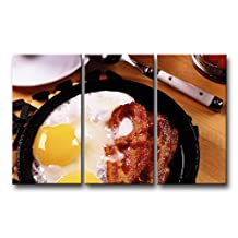 3 Piece Wall Art Painting Breakfast Fried Eggs Bacon Yolks Prints On Canvas The Picture Food Pictures Oil For Home Modern Decoration Print Decor