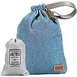 LOCTOTE AntiTheft Sack 3L - The Packable Portable Safe | Anti-theft | Lockable | Slash-Resistant (Denim Blue)