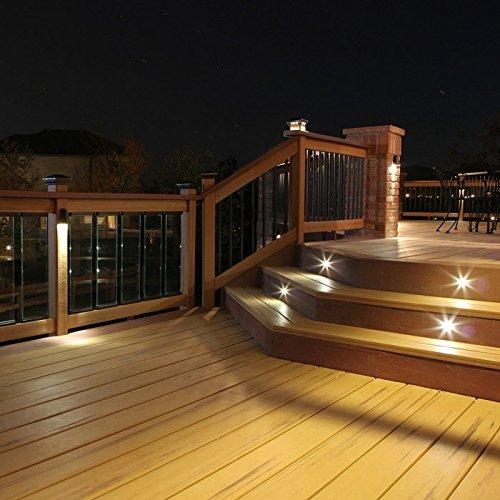 Indoor LED Recessed Stair Light / Step Light / Riser Light Kit - 8 LED Lights - Oil Rubbed Bronze by DEKOR (Image #4)