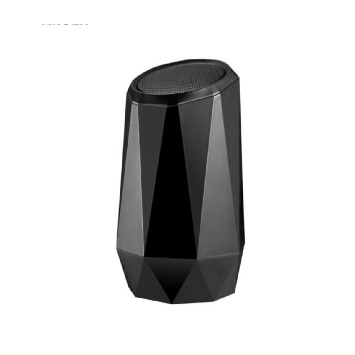 Aishanghuayi スピーカー、ブルートゥーススピーカークリスタルダイヤモンド、RGB呼吸光クリエイティブサウンド光源、ブラック 丈夫な (Color : Black)   B07RHRXFMH