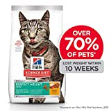 Hill's Science Diet Adult Perfect Weight Chicken Recipe Dry Cat Food for Healthy Weight and Weight Management, 15 lb Bag