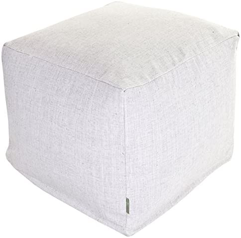 Majestic Home Goods Magnolia Wales Indoor Bean Bag Ottoman Pouf Cube 17 L x 17 W x 17 H