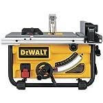 DeWalt 10-Inch compacto lugar de trabajo sierra de mesa con sistema de protección y soporte